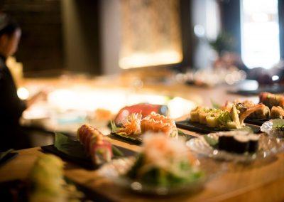 Servicio mesa Restaurante Zhu